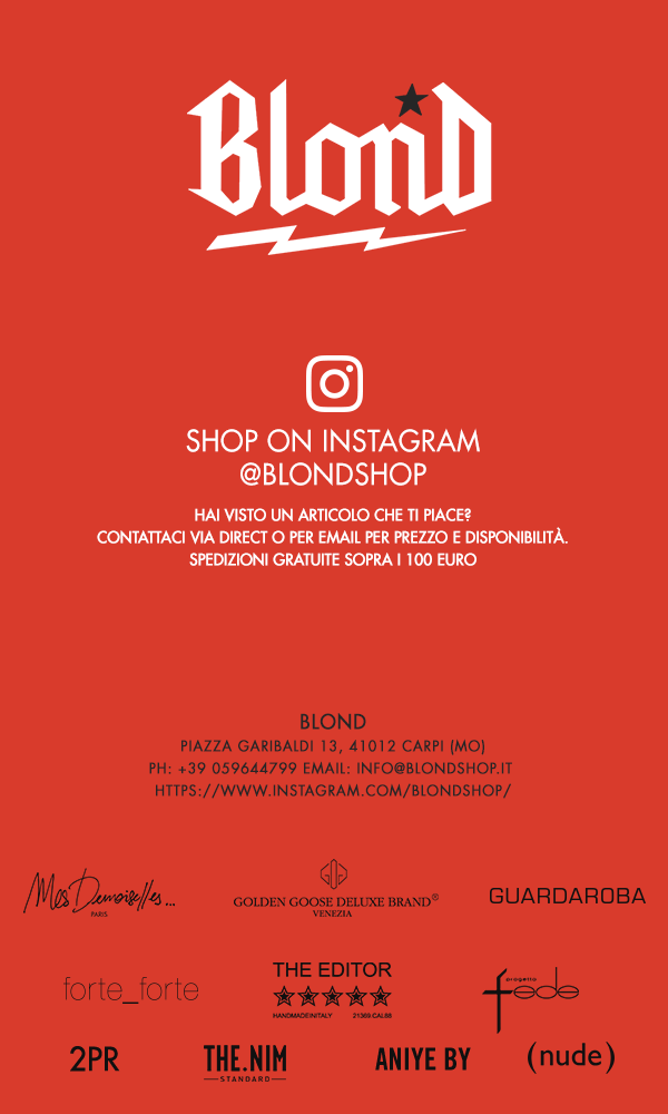 Shop on Instagram @blondshop