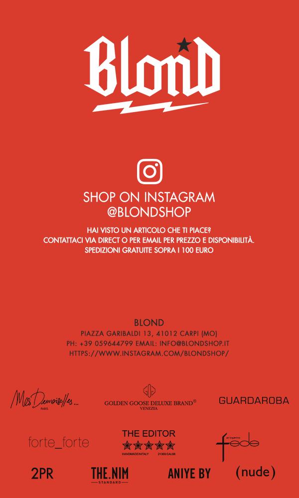Shop on Instagram @blondshop